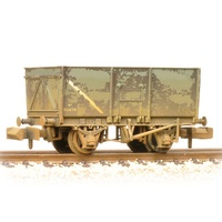 Graham Farish N 16T Steel Slope-Sided Mineral Wagon BR Grey (Early) - Weathered