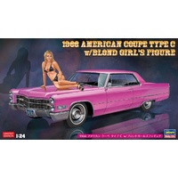 Hasegawa 1/24 1966 American Coupe Type C w/ Blond Girl's Figure 52232 Plastic Model Kit