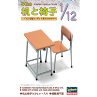 Hasegawa 1/12 School Desk & Chair 62001 Plastic Model Kit