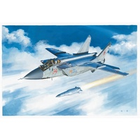 Hobby Boss 1/48 MiG-31BM fighter plane mounted dagger supersonic missile