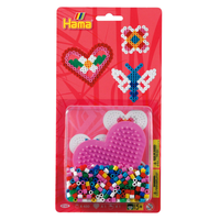 Hama Beads - Small Blister Packs (450 beads) - Pink Heart