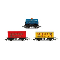Hornby OO Hornby 'Retro' Wagons, Three Pack, Crawfords Biscuits, Seccotine Tanker, Coleman's Mustard