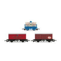 Hornby OO Hornby 'Retro' Wagons, three pack, United Dairies Tanker, Jacob's Biscuits, Palethorpes