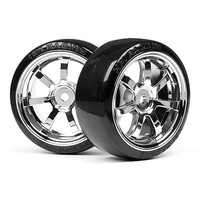 HPI 4739 T-Drift Tire 26mm Rays 57S-Pro Wheel Chrome