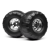 HPI Mounted Dual Stage Tyres For Classic King Wheels HPI-4884