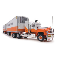 Highway Replicas 1/64 Freight Road Train – TNT Refrigerated Services – Prime Mover, Dolly and 2 x Freight Trailers Diecast