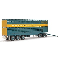 Highway Replicas 1/64 Livestock Road Train Dolly and Livestock Trailer Diecast Trailer 12989