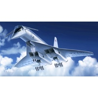 "ICM 1/144 Tu-144 ""Charger"", Soviet Supersonic Passenger Aircraft 14401 Plastic Model Kit"