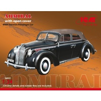 ICM 1/24 Admiral Cabriolet with open cover, WWII German Passenger Car 24022 Plastic Model Kit