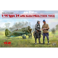 ICM 1/32 I-16 type 24 with Soviet Pilots (1939-1942) 32007 Plastic Model Kit