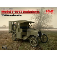 ICM 1/35 Model T 1917 Ambulance, WWI American Car 35661 Plastic Model Kit