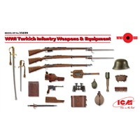 ICM 1/35 WWI Turkich Infantry Weapons & Equipment 35699 Plastic Model Kit