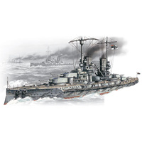 "ICM 1/350 ""Grober Kurfurst"" - WWI German Battleship S002 Plastic Model Kit"