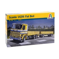 Italeri 1/24 Scania 142M Flat Bed Truck & Tr. Plastic Model Kit