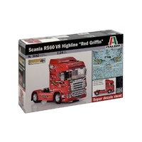 Italeri 1/24 Truck Scania R560 V8 Highline Red Griffin ITA-03882