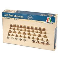 Italeri 1/72 Anti-Tank Traps & Obstacles ITA-06147