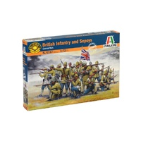 Italeri 1/72 British Infantry and Sepoys (Colonial wars) Plastic Kit 6187S