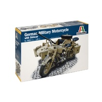 Italeri 1/9 BMW R75 Military Motorcycle with Sidecar