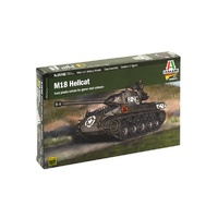 Italeri 1/56 M18 Hellcat (2 Tank Drivers Included)