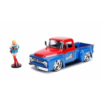 Jada 1/24 Super Girl w/1956 Ford F-100 Pickup Bombshells Movie 30454 Diecast