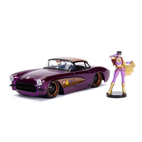 Jada 1/24 Batgirl w/1957 Chevy Corvette Bombshells Movie 30457 Diecast