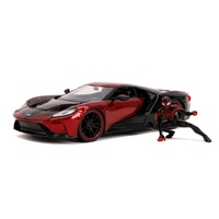 Jada 1/24 (Miles Morales) Spiderman w/ 20147 Ford GT Hollywood Rides Movie Diecast