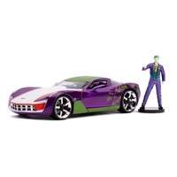 Jada 1/24 Joker w/2009 Corvette Stingray Hollywood Rides Movie Diecast Car