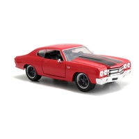 Jada 1/24 F&F Dom's Chevy Chevelle SS Glossy Red - Fast n Furious Movie Diecast