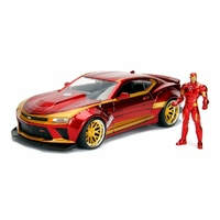 Jada 1/24 Ironman With 2016 Chevy Camaro Movie Hollywood Rides