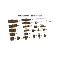 Jekca Sculptor Basic Pack 50 - Brown#1545