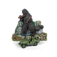 JL Innovative Design 1/64 Godzilla Diorama w/Willys Jeep