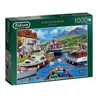 Jumbo 1000pc A Day On The River Jigsaw Puzzle