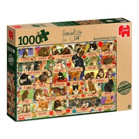 Jumbo 1000pc Franciens Cat Anniversary 1000 Jigsaw Puzzle