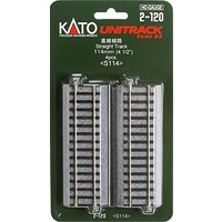 Kato HO Unitrack 114mm 4pk