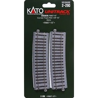 Kato HO Unitrack Radius 867mm, 10 Degrees 2pk