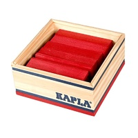 Kapla Colour Square Box 40pcs - Red