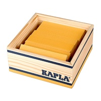 Kapla Colour Square Box 40pcs - Yellow