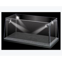 1/18 Black LED Display Case (L) 35.5cm x (W) 15.6cm x (H) 16cm