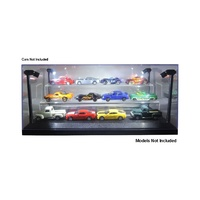 Light Up Display Case With 2 Tiers Fits 12 1/64 Cars