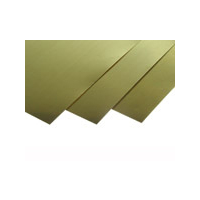 K&S Brass Sheet 0.016x1/4x12 (1) 0230 KSE-8230