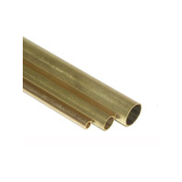 K&S Brass Round Tube 4.0 x 300mm 0.22wall 3pce KSE-9836