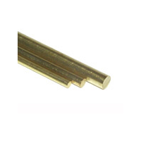 K&S Brass Round Rod 1.0 x 300mm 5pce KSE-9861