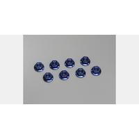 Kyosho Nut(M4x4.5) Flanged (Steel/Blue/8pcs)