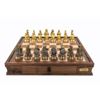 "Dal Rossi Italy Medieval Warriors Chess Set with Drawers 20"" (L2228DR & L2299DRBOXONLY)"