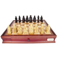 Dal Rossi Isle of Lewis Chess Set with Drawers 20in L2029DR