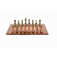 Dal Rossi Italy Chess Set 50cm Board With Bronze/Copper Pcs 50cm L3123DR