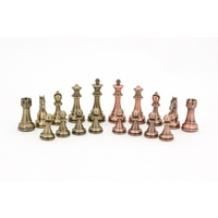 Dal Rossi Italy Bronze and Copper Weight Chess pieces 110mm Chess Pieces ONLY