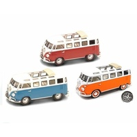 1:43 1962 VW Microbus w/Sunroof Assorted Colours