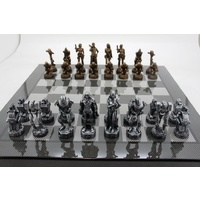 Dal Rossi Italy Mad Max Robot Chess Set 20in Box with Compartments