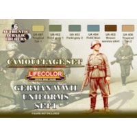 LifeColor German Uniforms WWII Set 1 6 Tins w/ RAL Reference LC-CS04